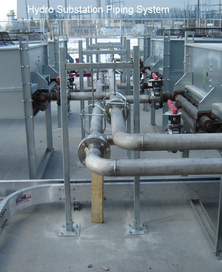 Hydro substation piping system